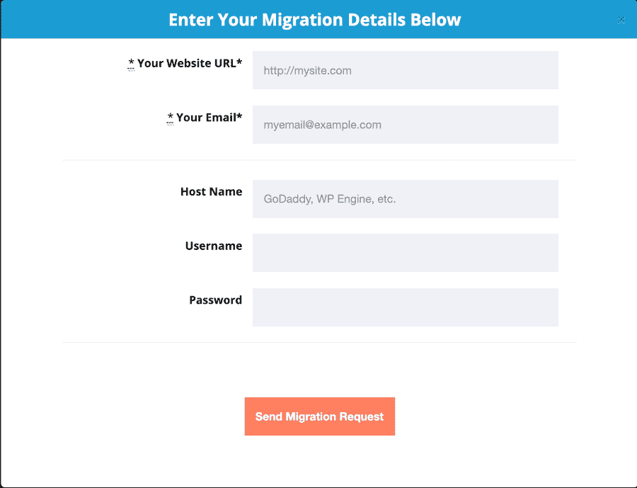 pressable migration request form