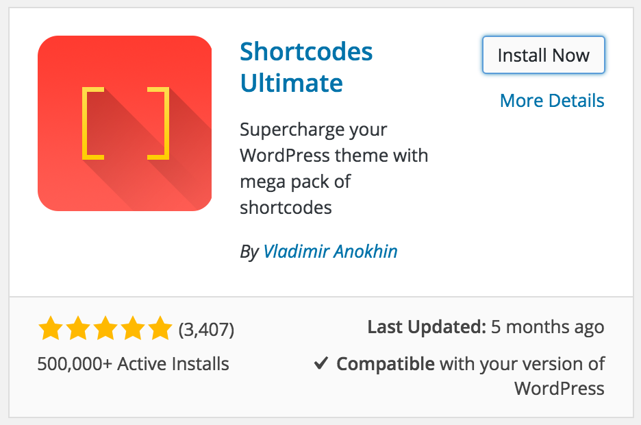 Install Shortcodes Ultimate
